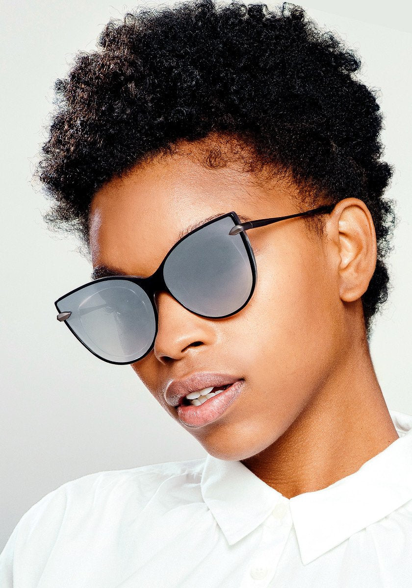 LAVEAU NYLON | Black and Crystal handcrafted acetate sunglasses | Featured Model