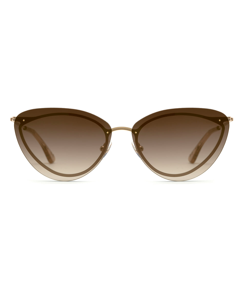 LILLIAN | 12K + Sweet Tea Handcrafted, Stainless Steel Sunglasses