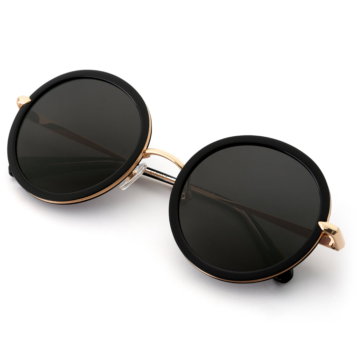LOUISA | Black 24K handcrafted acetate sunglasses