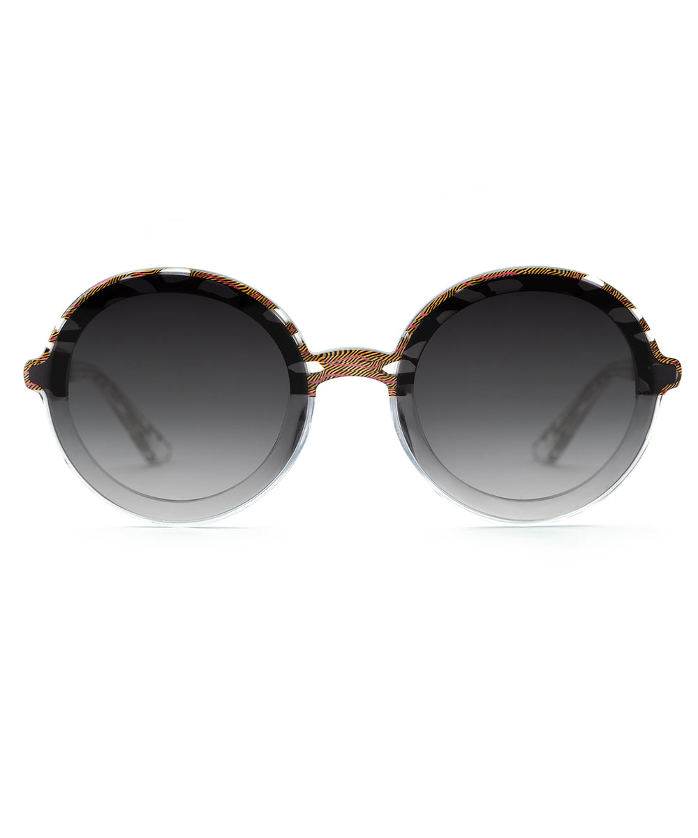 LOUISA NYLON | D`Oro to Crystal Handcrafted, Acetate Sunglasses