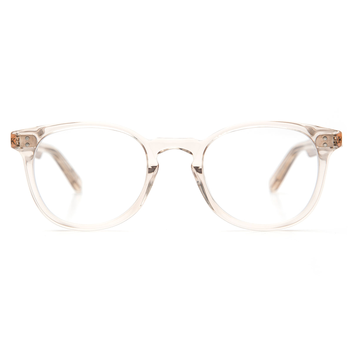 MARENGO | Buff- Handcrafted acetate Optical frames with a round silhouette.