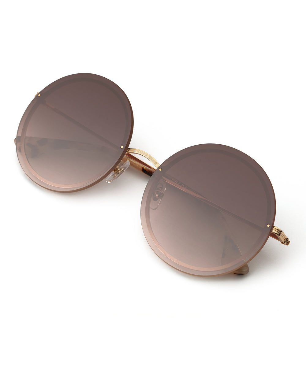 MADISON | 24K + Oyster Handcrafted, Stainless Steel Sunglasses