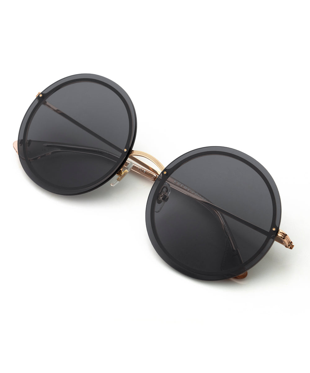 MADISON | Rose Gold + Petal Handcrafted, Stainless Steel Sunglasses