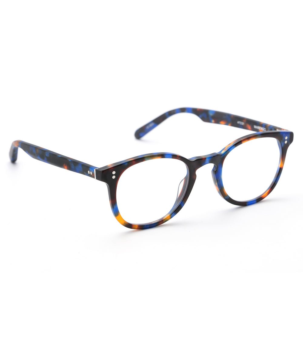 MARENGO | Matte Blue Steel handcrafted acetate eyewear