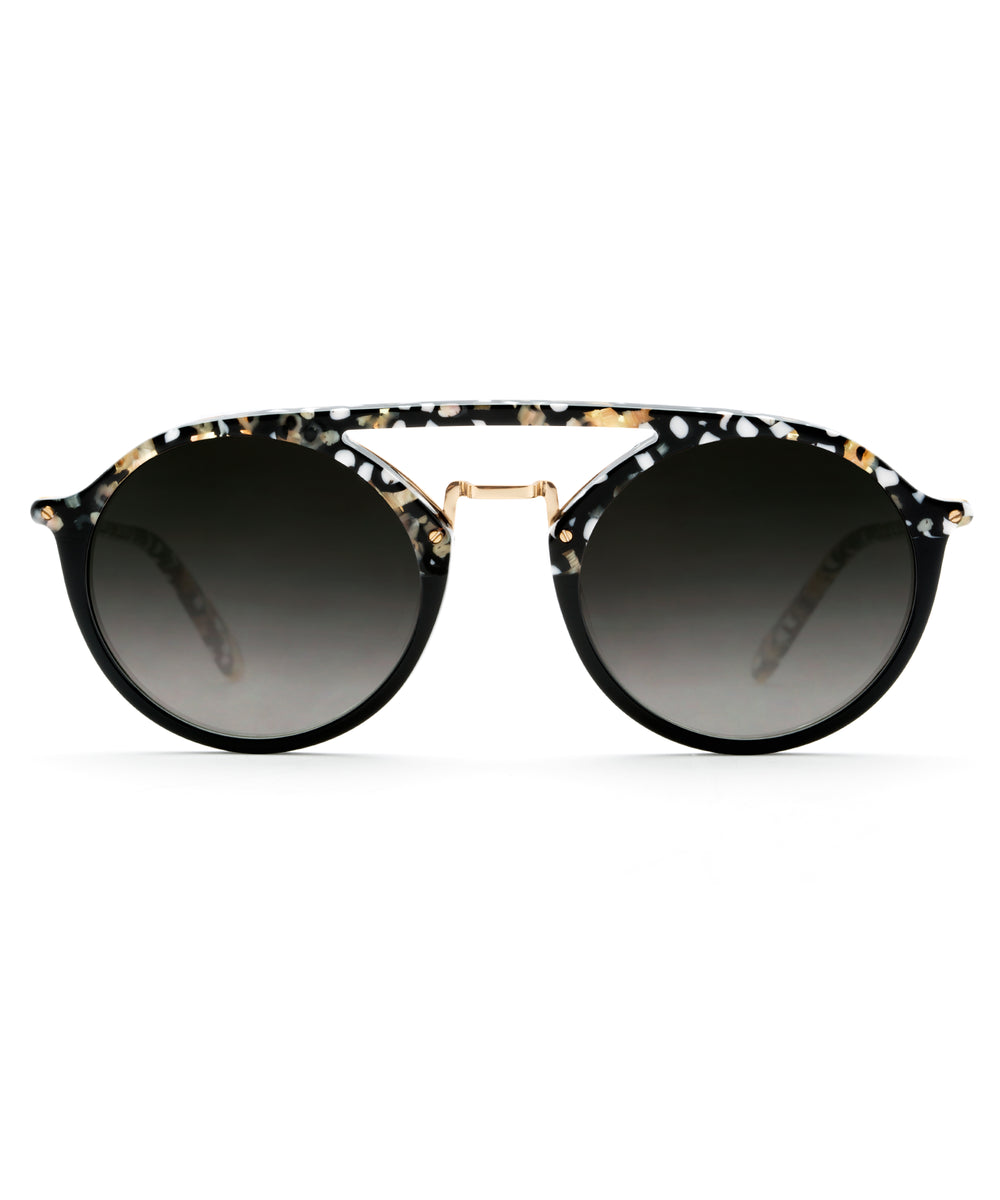 MARIGNY | Plume to Black 24K handcrafted acetate eyewear