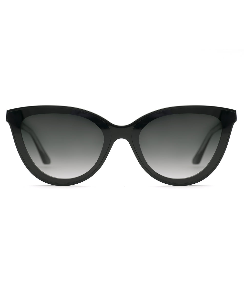 MONROE NYLON | Black and Black + Crystal Handcrafted, Acetate Sunglasses