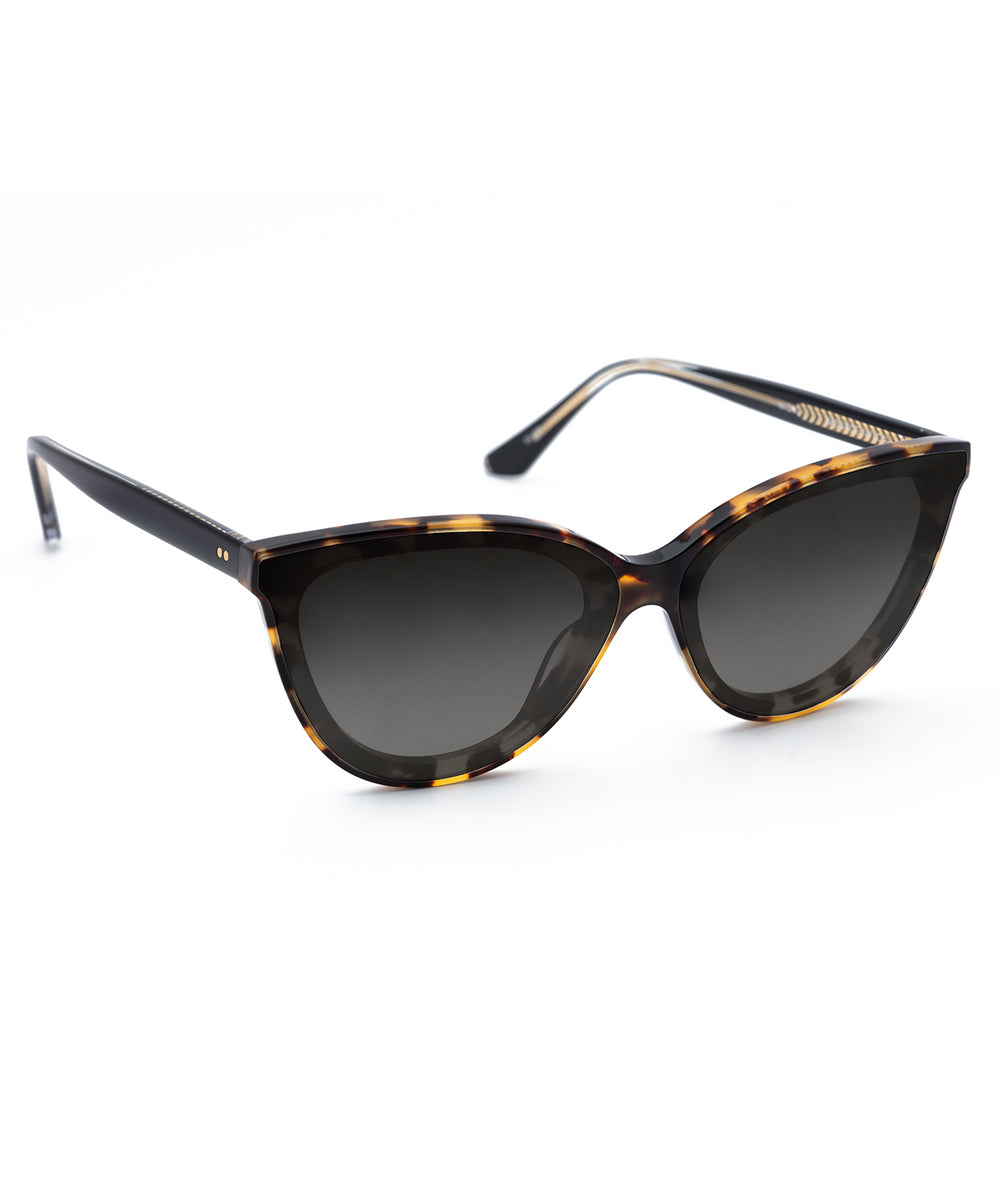 MONROE NYLON | Tokyo Tortoise + Black and Crystal Handcrafted, Acetate Sunglasses