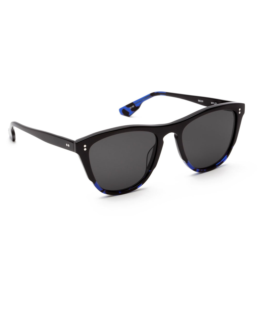MYLES | Black to Cobalt Handcrafted, acetate sunglasses