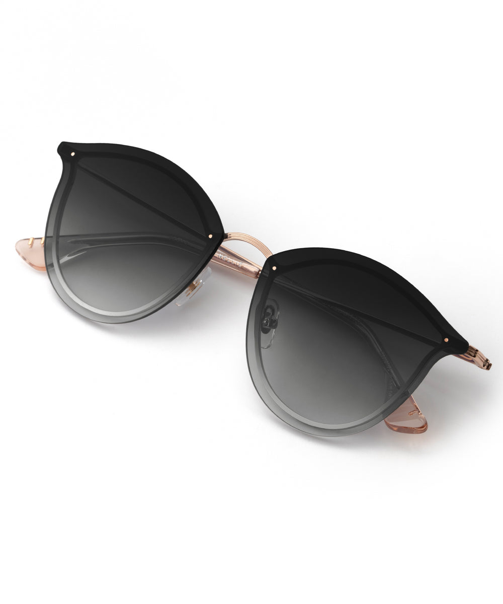 NELLIE | Rose Gold + Petal Handcrafted, Stainless Steel Sunglasses
