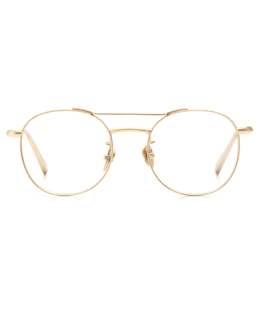 ORLEANS II | 18K Titanium - Round Optical frames hand crafted from premium metals.