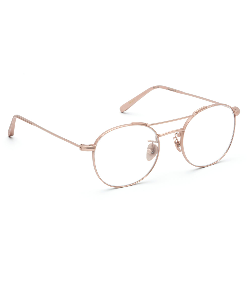ORLEANS II | Matte Rose Gold Titanium - Round Optical frames hand crafted from premium metals.