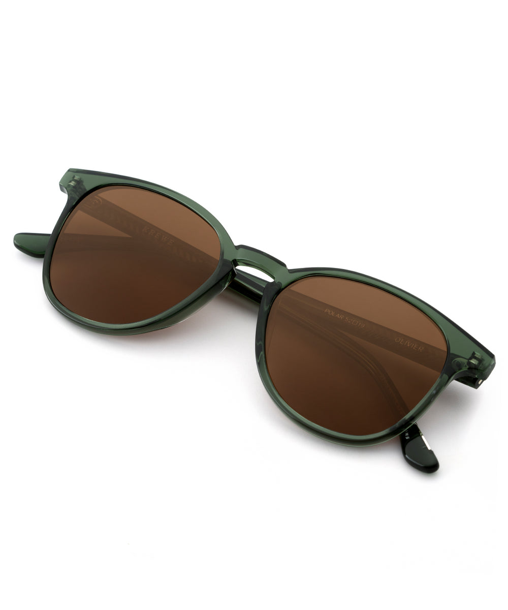 OLIVIER | Bottle Green handcrafted acetate sunglasses