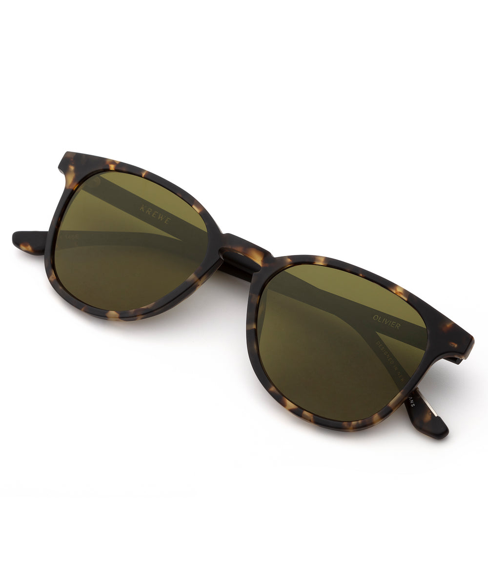 OLIVIER | Matte Brindle + Black Polarized handcrafted acetate Sunglasses.
