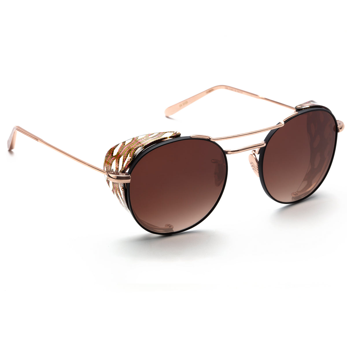 ORLEANS BLINKER | Rose Gold + D'Oro handcrafted acetate sunglasses