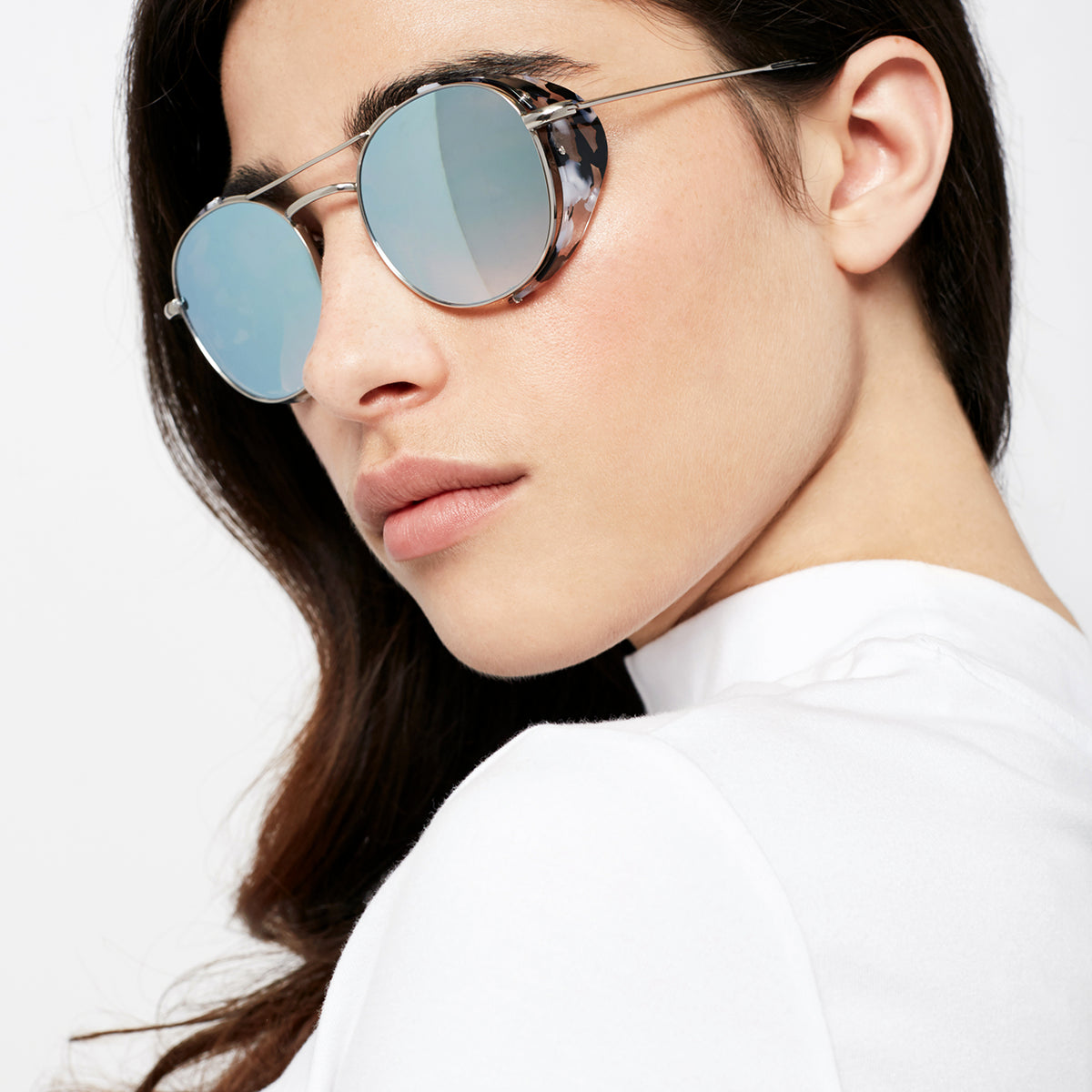 ORLEANS BLINKER | Titanium + Interstellar - A seamless combination of premium metal and acetate side blinders for a truly modern pair of Sunglasses. | Womens
