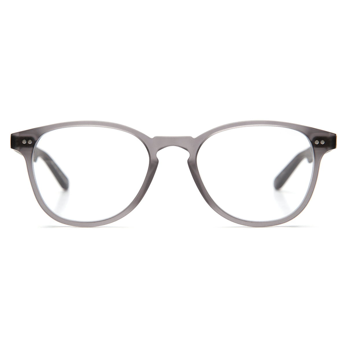 PERRIER | Matte Ash - Handmade acetate Optical frames with a keyhole nose bridge.