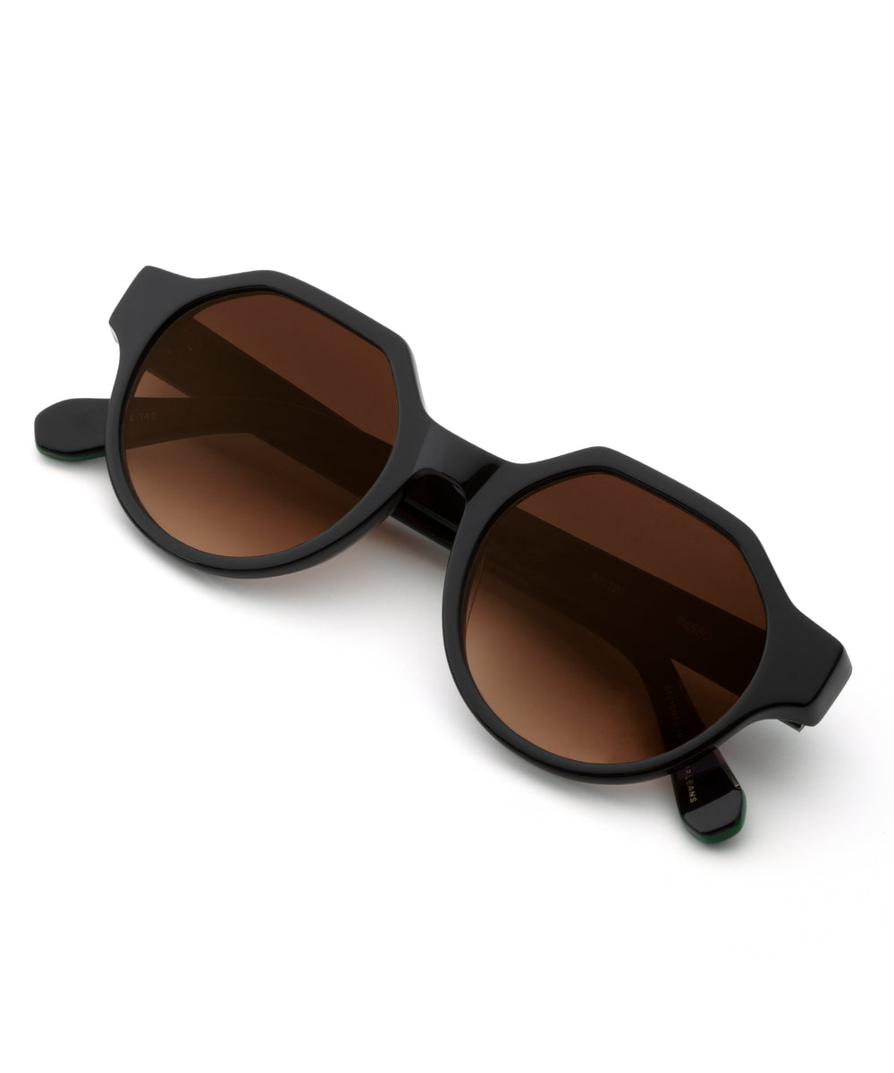 PASEO | Black + Obsidian Handcrafted, Acetate Sunglasses