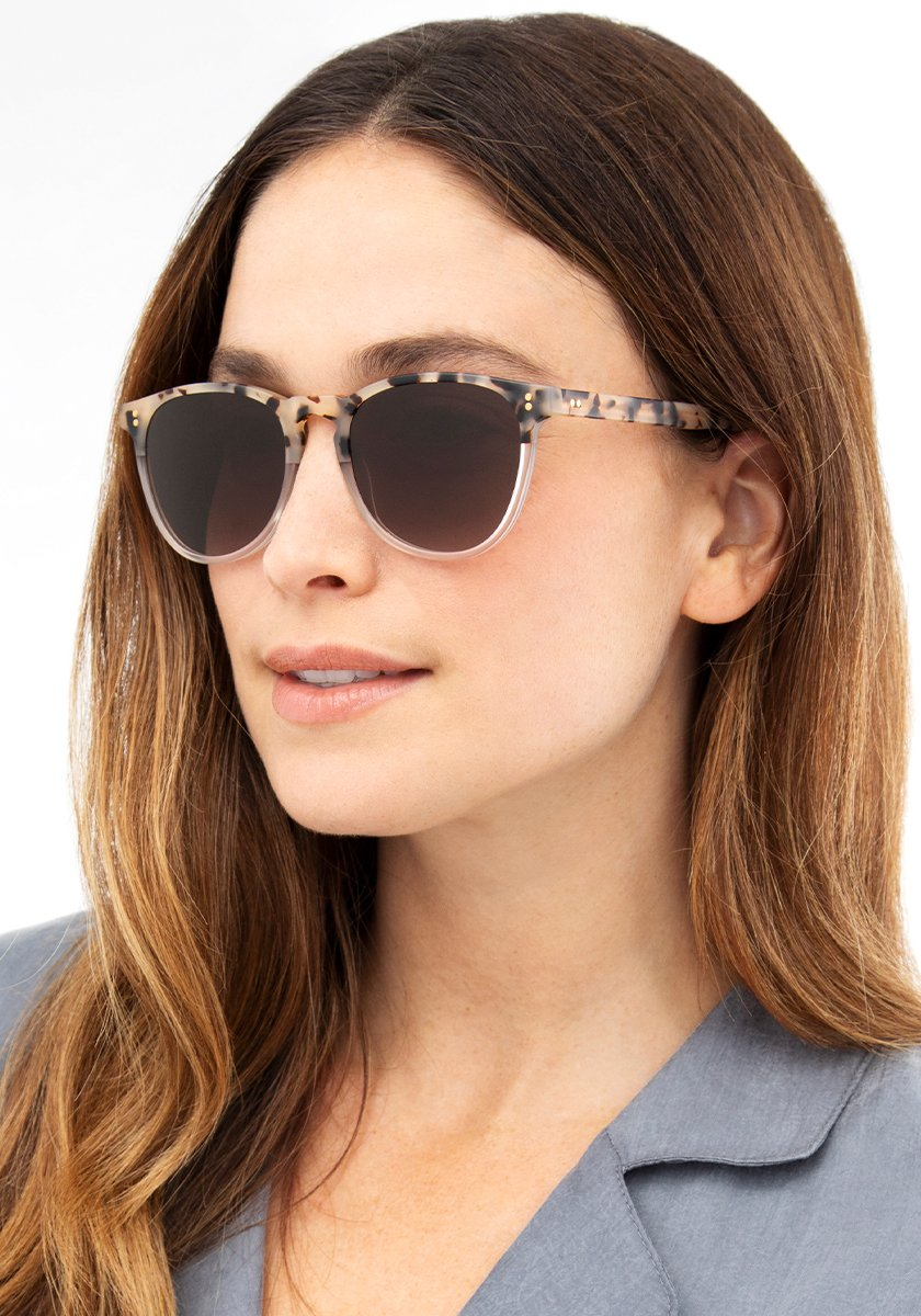 PRESS | Matte Oyster to Crystal Handcrafted, Acetate Sunglasses