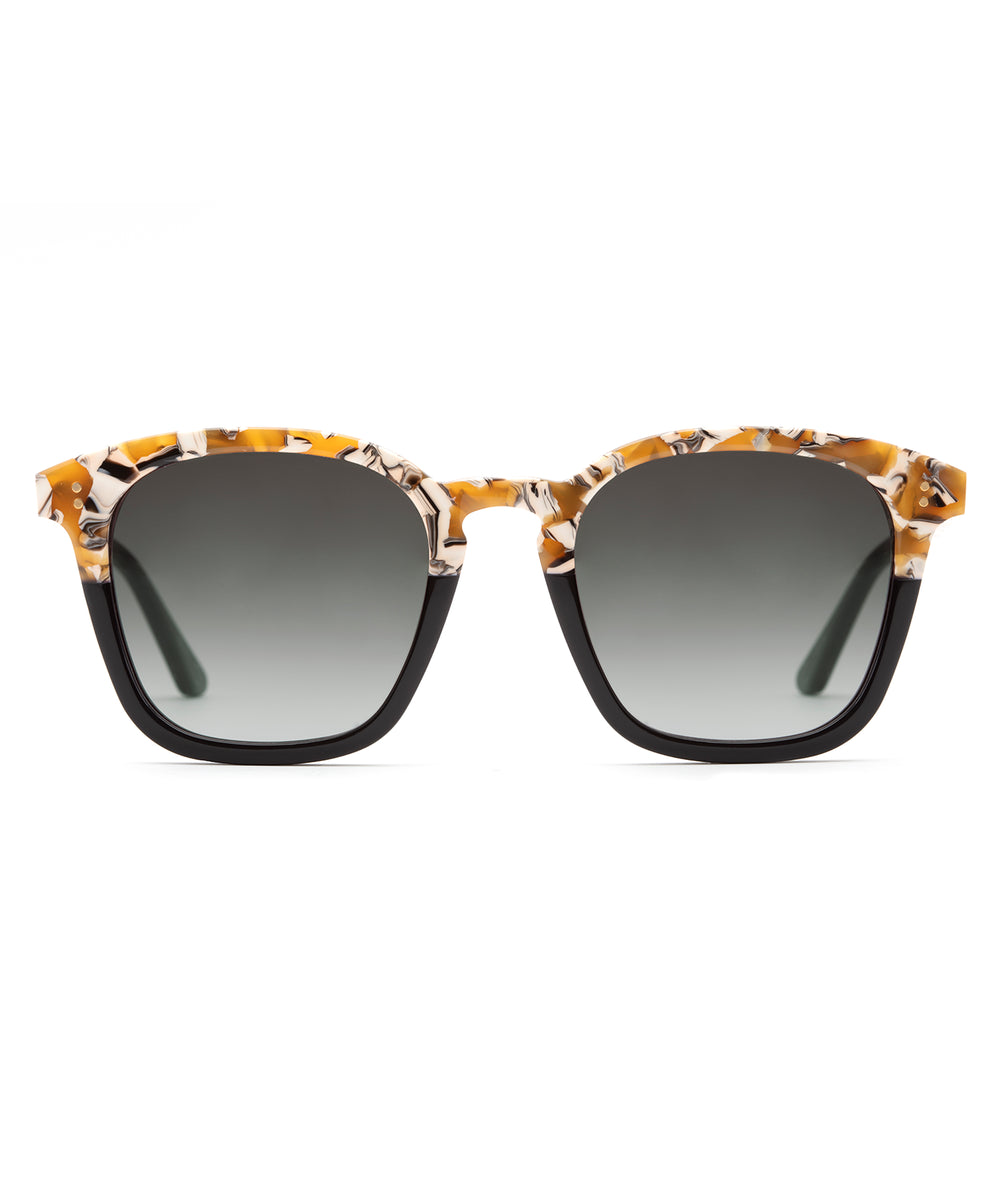 PRYTANIA | Butterscotch to Black Handcrafted, Acetate Sunglasses