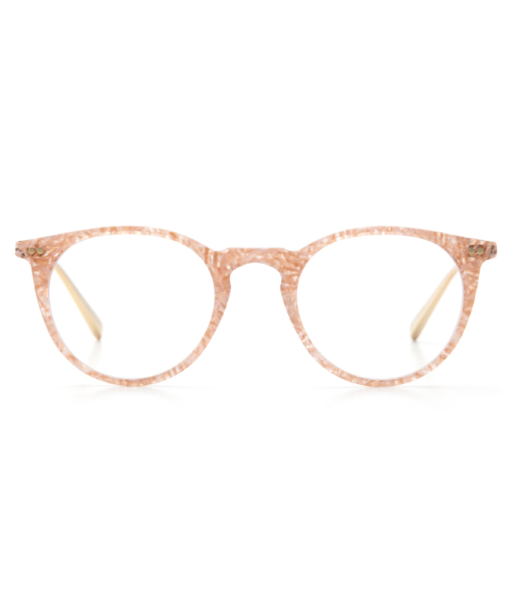 ROYAL | Camellia + 18K Titanium and handcrafted acetate Optical frames that are perfect for everyday wear.