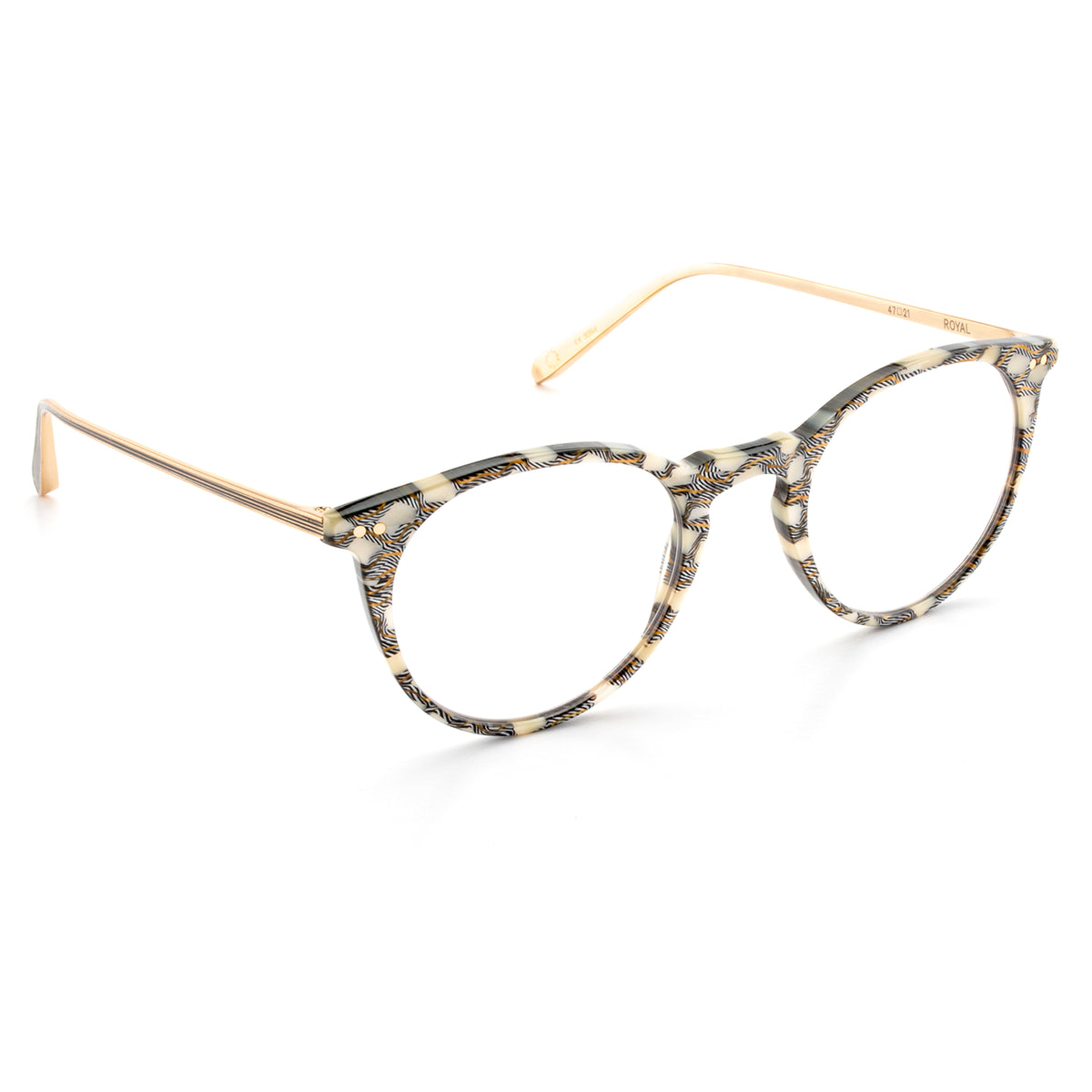 ROYAL | Stella + 24K Titanium and handcrafted acetate Optical frames that are perfect for everyday wear.