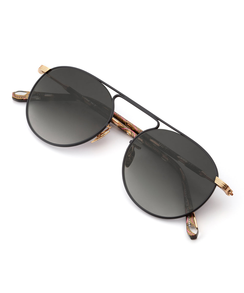 RAMPART | 24K + Matte Black and D'Oro Handcrafted, Titanium Sunglasses