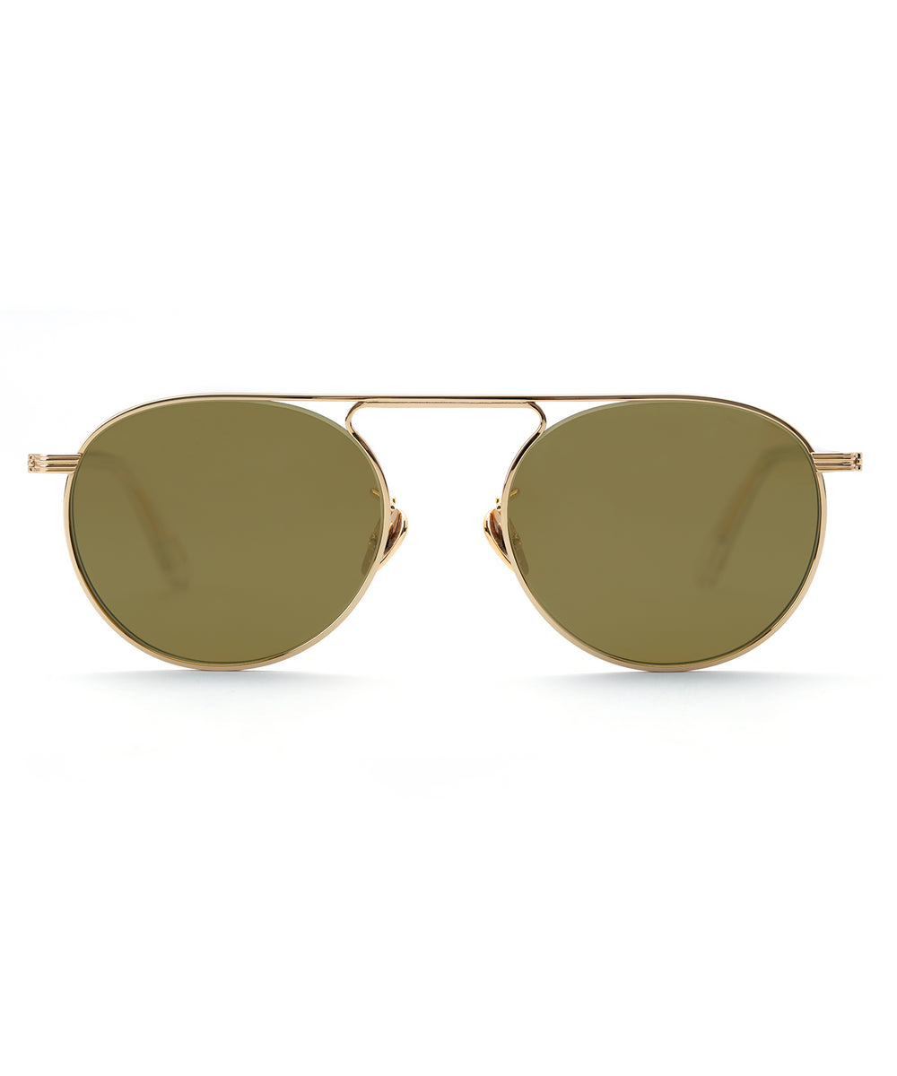 RAMPART | 24K Titanium + Crystal Polarized Handcrafted, Titanium Sunglasses