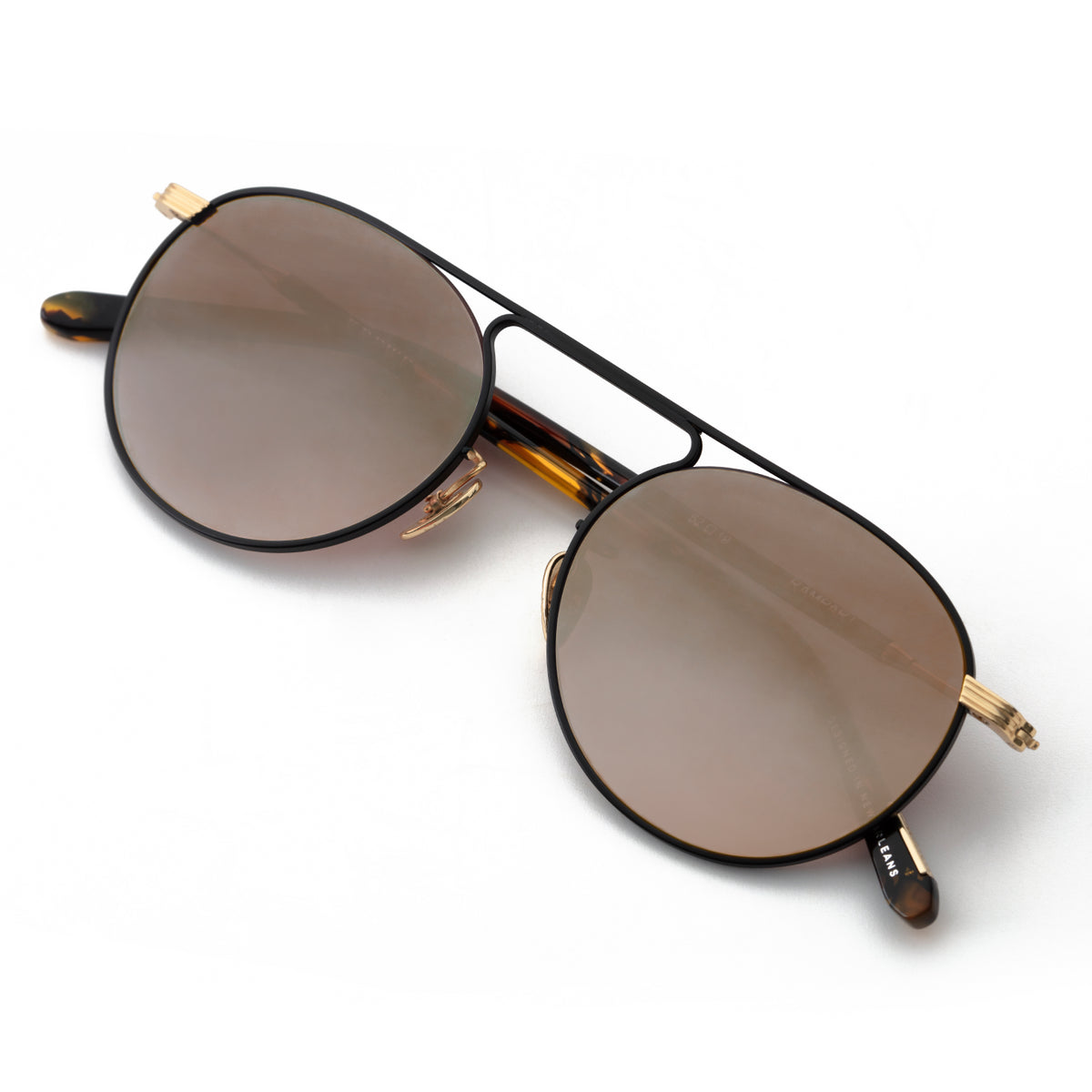 RAMPART | Matte Black + Honey 24K handcrafted acetate sunglasses