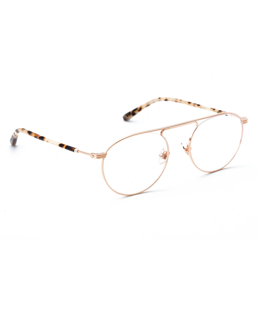 RAMPART OPTICAL | Rose Gold Titanium + Oyster Handcrafted, Titanium Frames