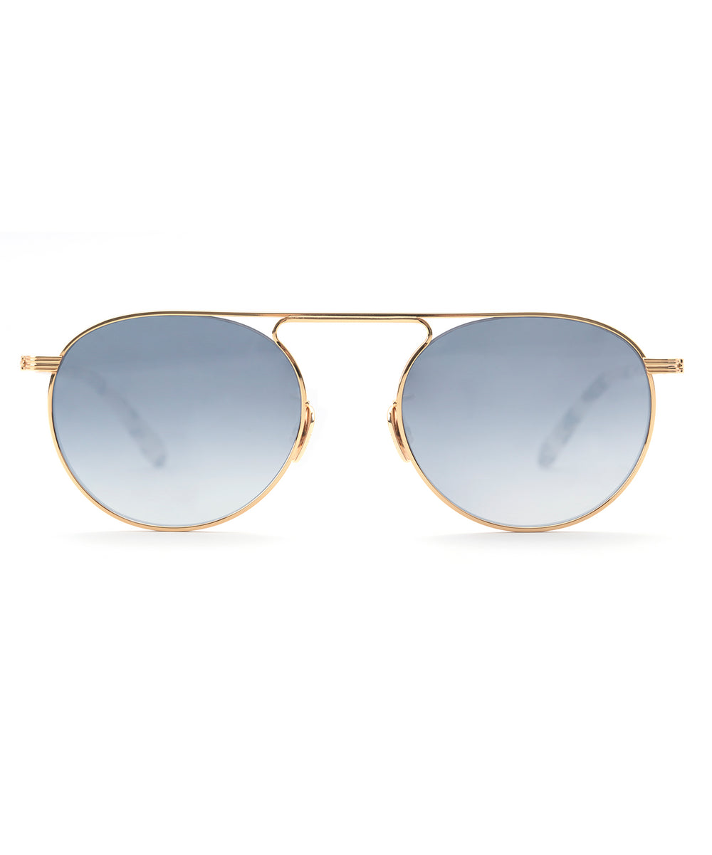 RAMPART | 24K Titanium + Oyster handcrafted acetate sunglasses