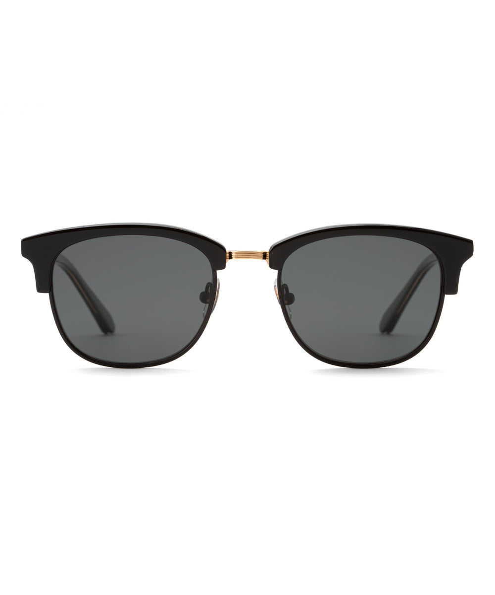 RIDGE | Black 24K + Shadow Polarized Handcrafted, Acetate Sunglasses