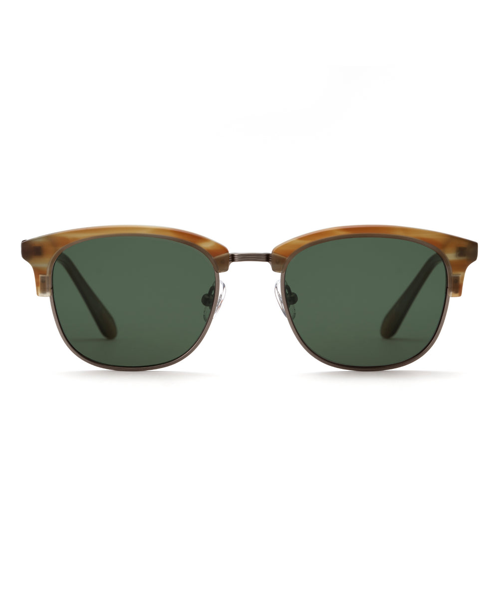 RIDGE | Matte Willow Gunmetal Handcrafted, Acetate Sunglasses