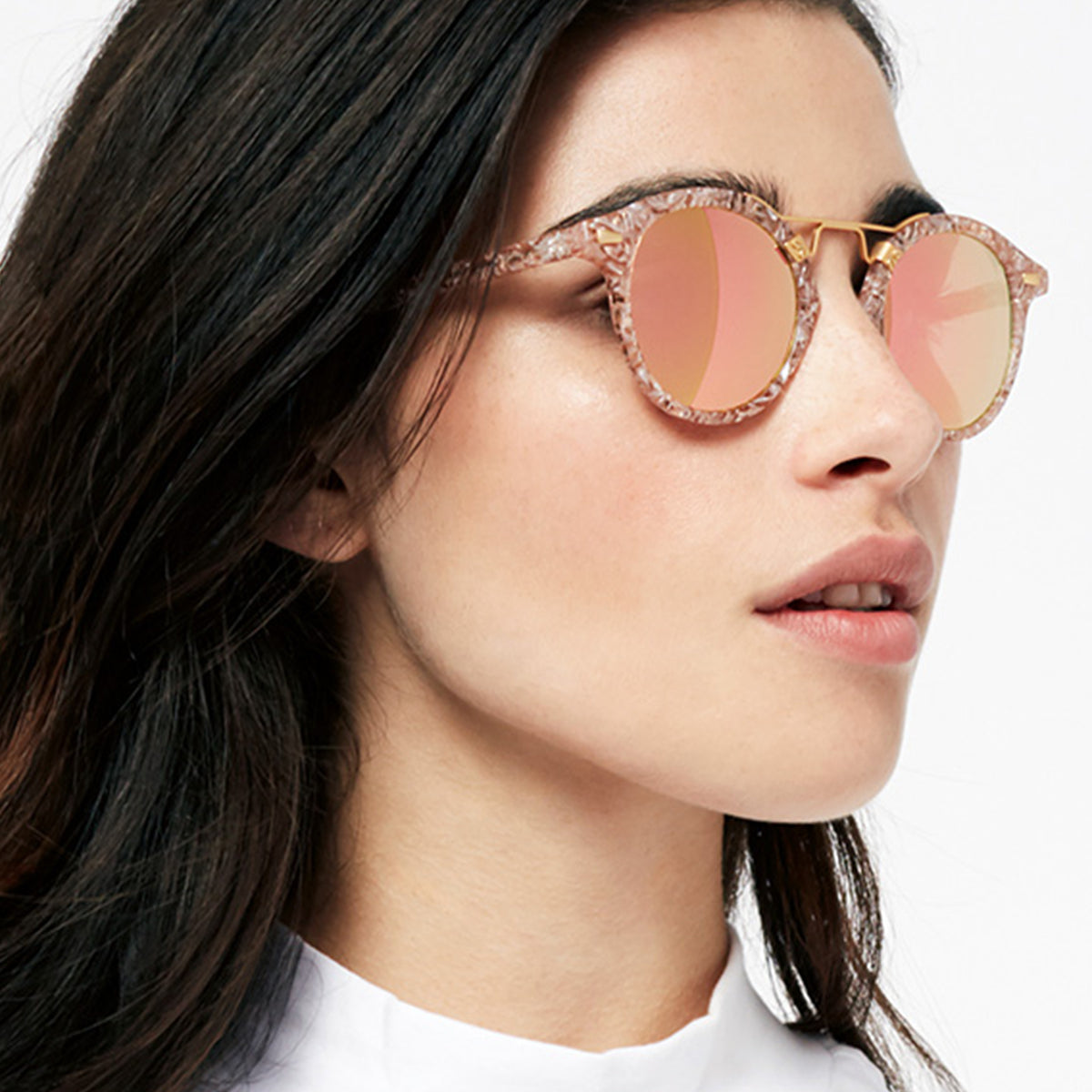 ST. LOUIS MIRRORED | Camellia 24K handcrafted acetate Sunglasses | Womens | Featured Model