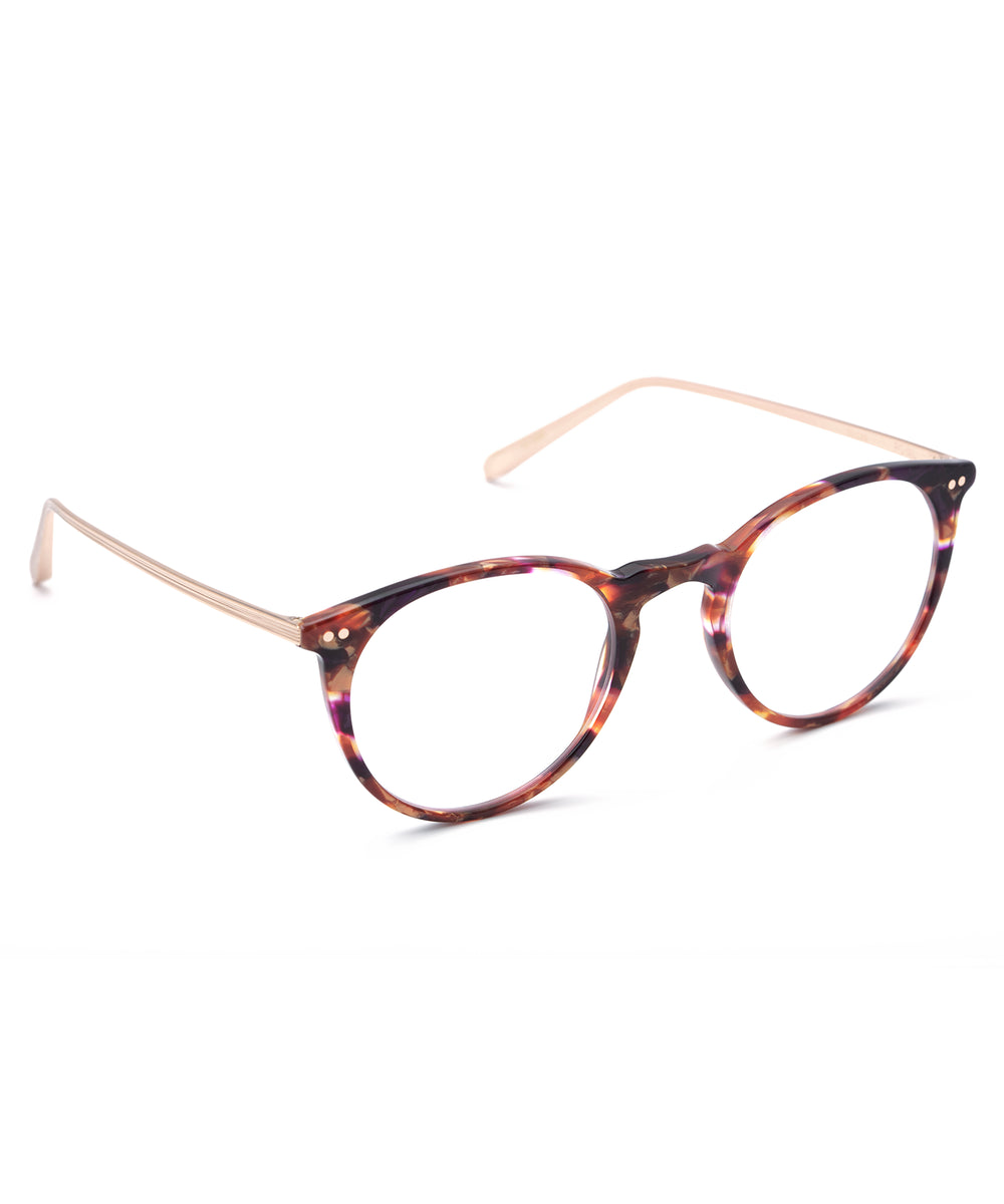 ROYAL | Stardust + Rose Gold Titanium Handcrafted, Acetate Frames