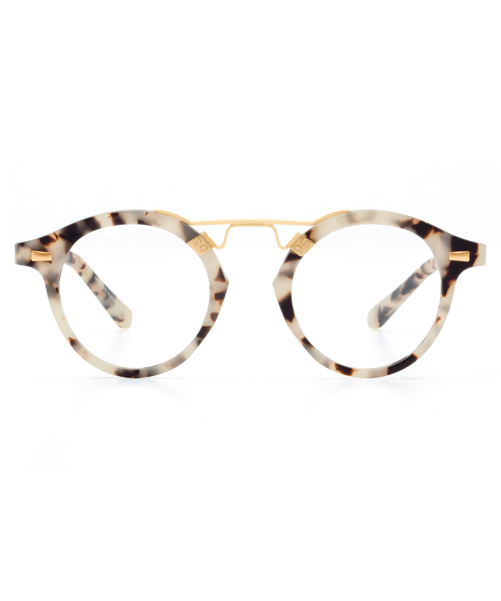 ST. LOUIS OPTICAL | Matte Oyster 18K handcrafted acetate Optical