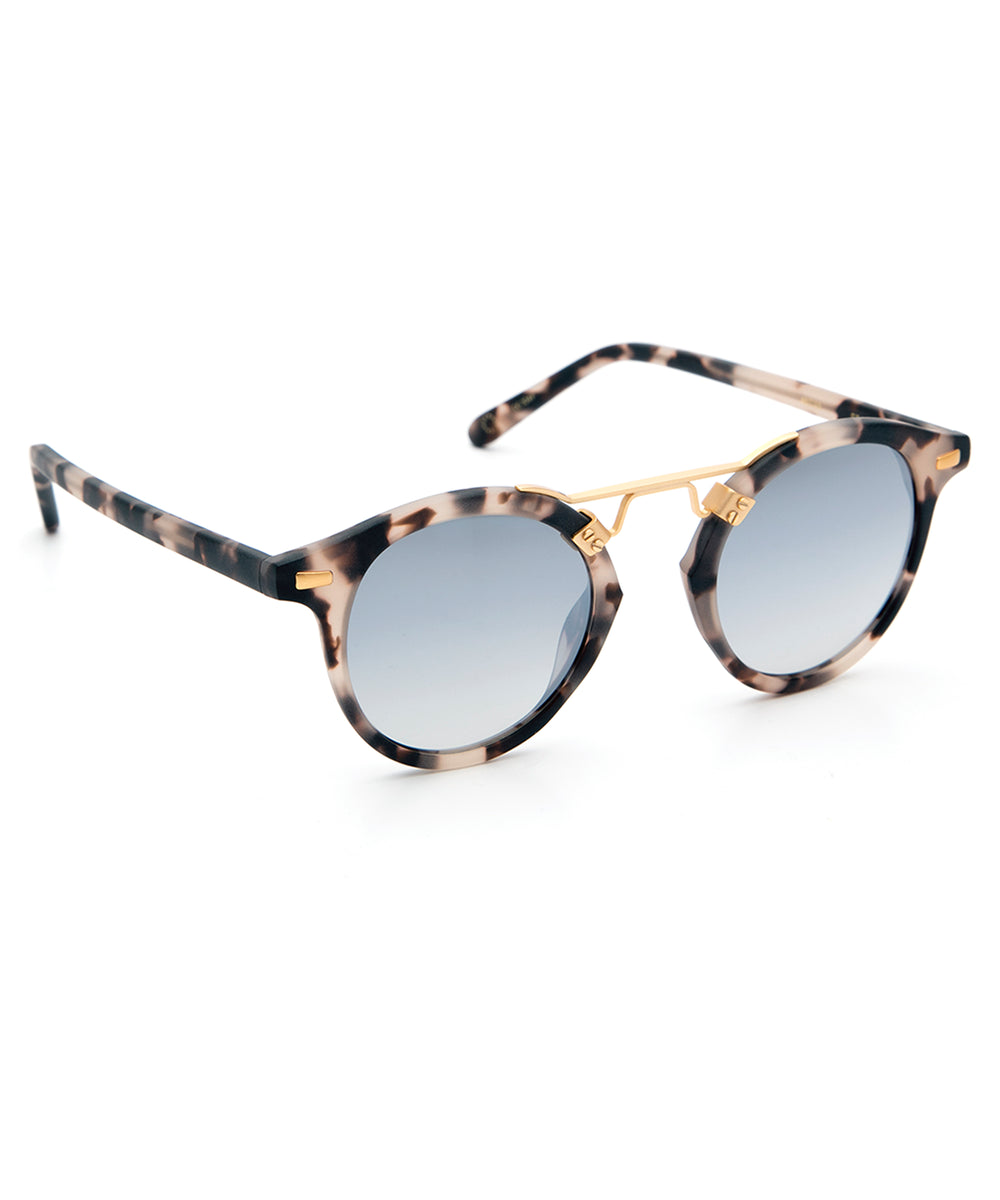 ST. LOUIS MIRRORED | Matte Sunday Tortoise 24K handcrafted acetate Sunglasses