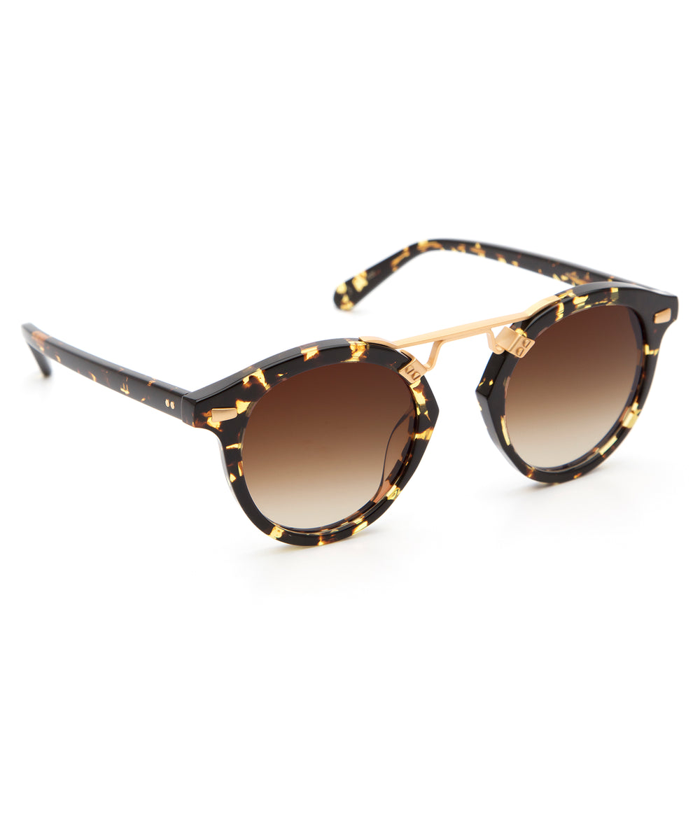 STL II | Zulu 24K - round Sunglasses handcrafted from acetate featuring 24K gold hardware.