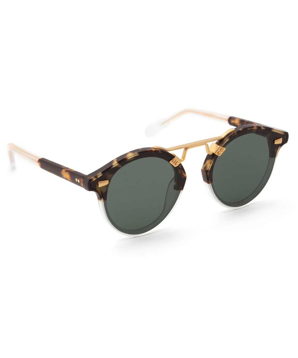 STL NYLON | Matte Brindle to Crystal Handcrafted, Acetate Sunglasses