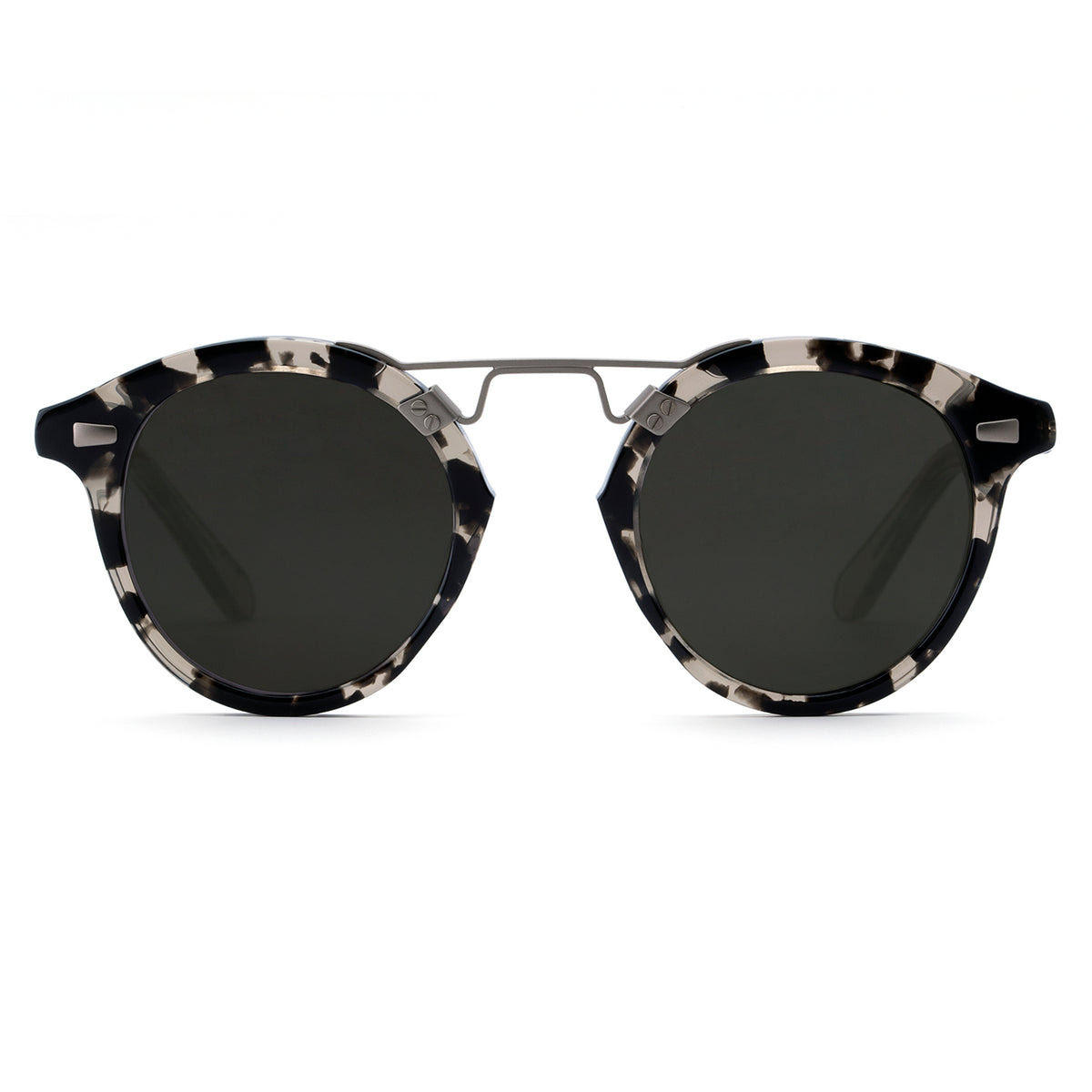 STL II | Charcoal + Brume handcrafted acetate sunglasses