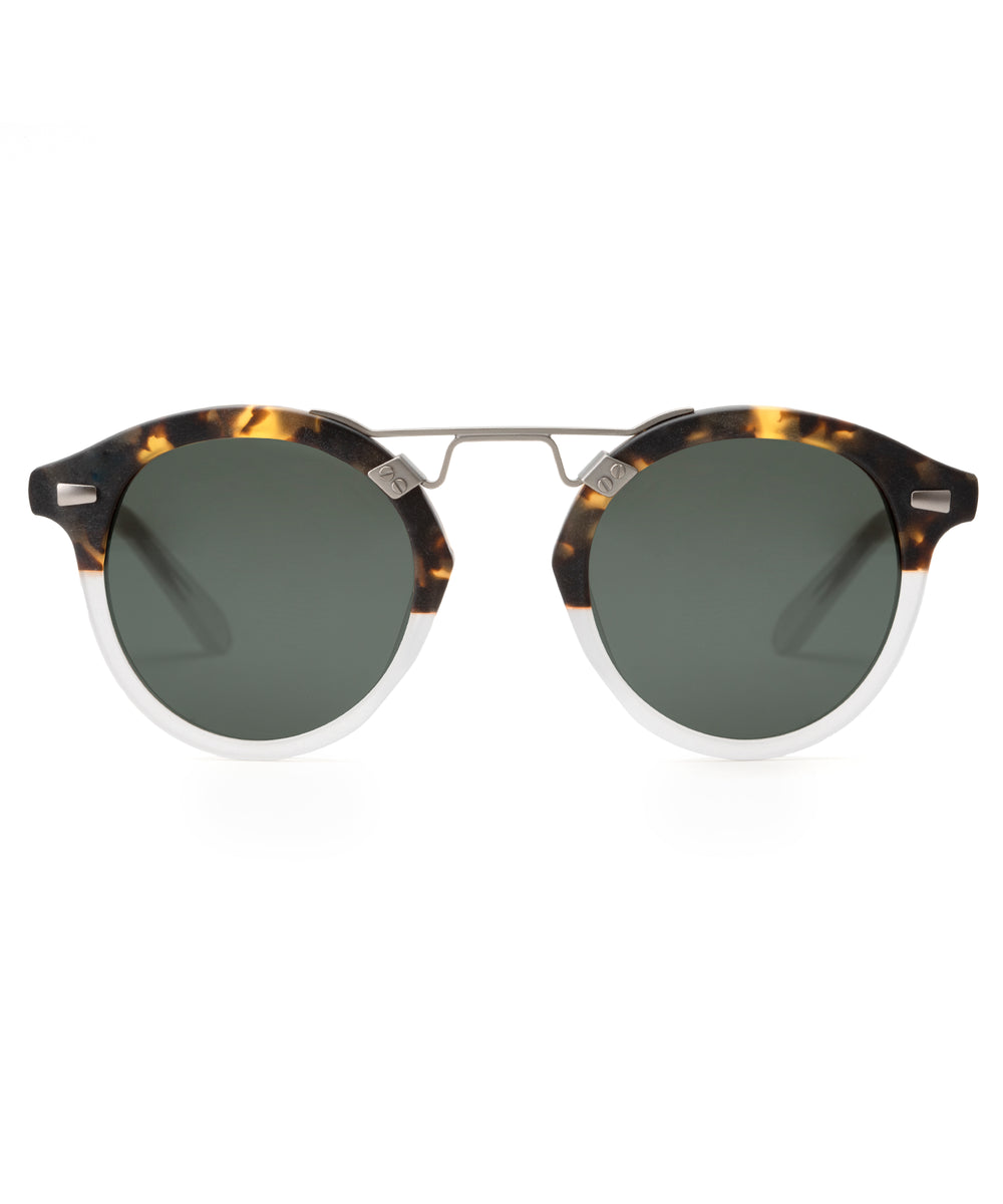 STL II | Matte Bengal to Crystal, Handcrafted acetate sunglasses