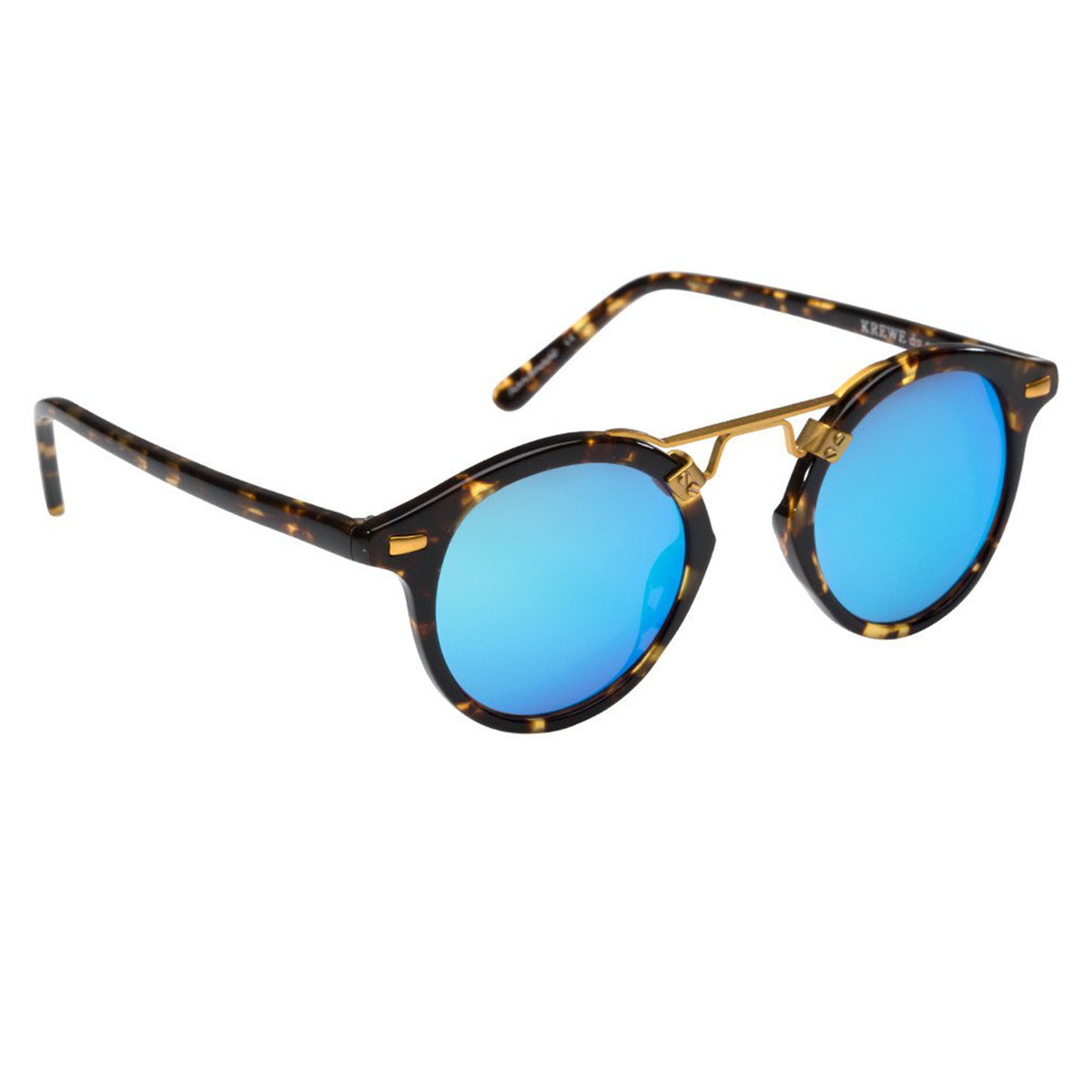 ST. LOUIS MIRRORED | Bengal Blue handcrafted acetate Sunglasses