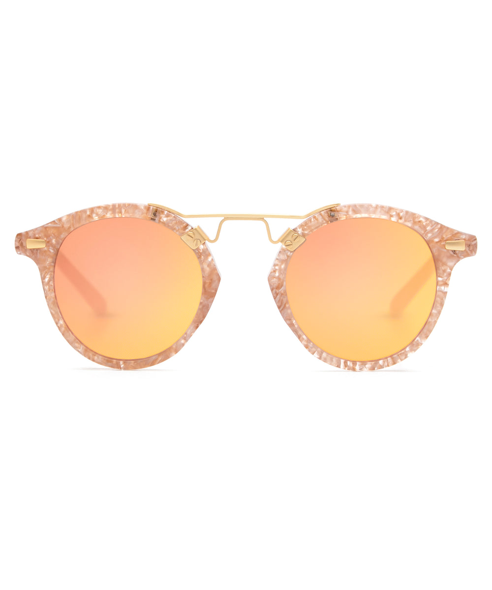 ST. LOUIS MIRRORED | Camellia 24K handcrafted acetate Sunglasses