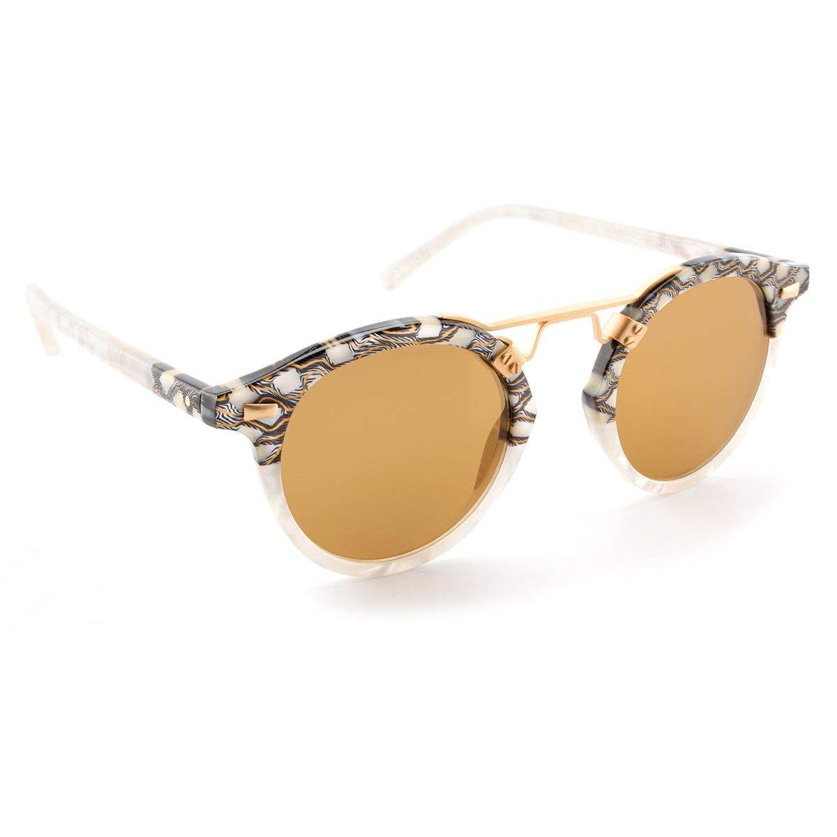 ST. LOUIS MIRRORED | Stella to Magnolia 24K handcrafted acetate Sunglasses