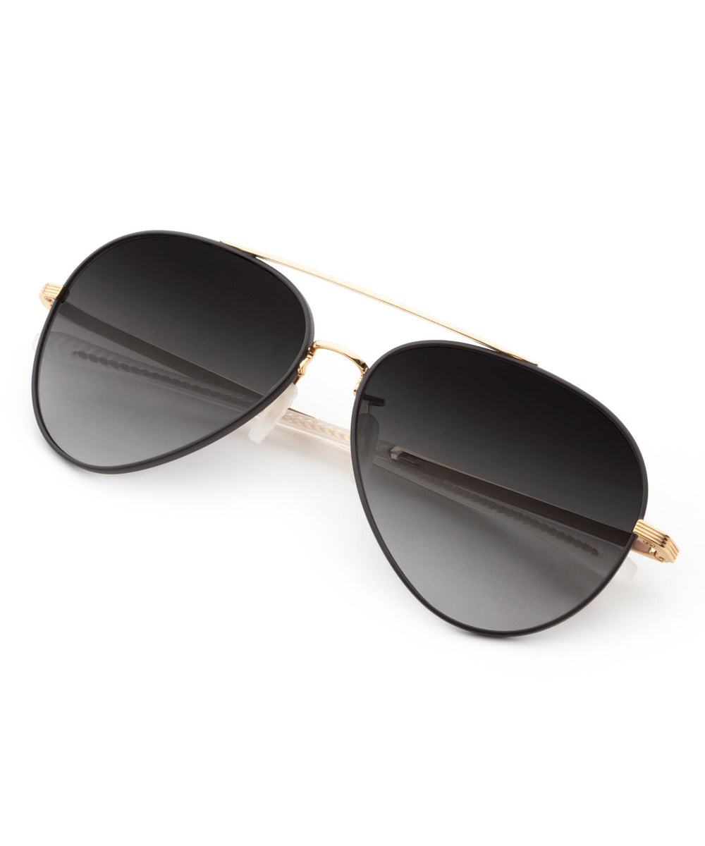 TUNICA | Matte Black + 18K Handcrafted, Stainless Steel Sunglasses
