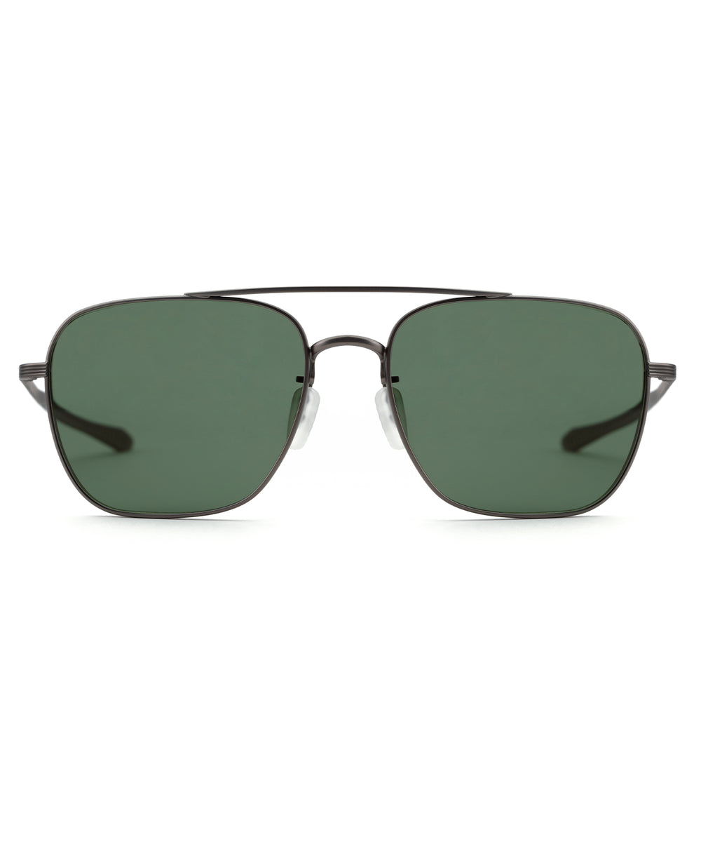 SCOUT | Matte Gunmetal Polarized Handcrafted, Stainless Steel Sunglasses