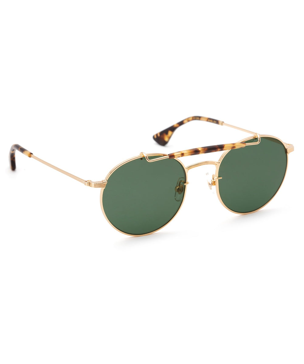SHELBY | 24K + Matte Bengal Polarized Handcrafted, stainless steel sunglasses