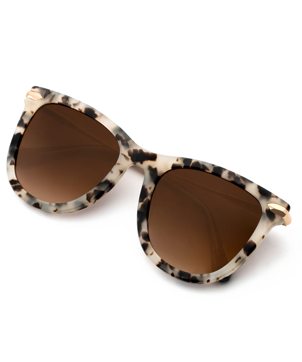 SIMONE | Oyster + Black Handcrafted, Acetate Sunglasses