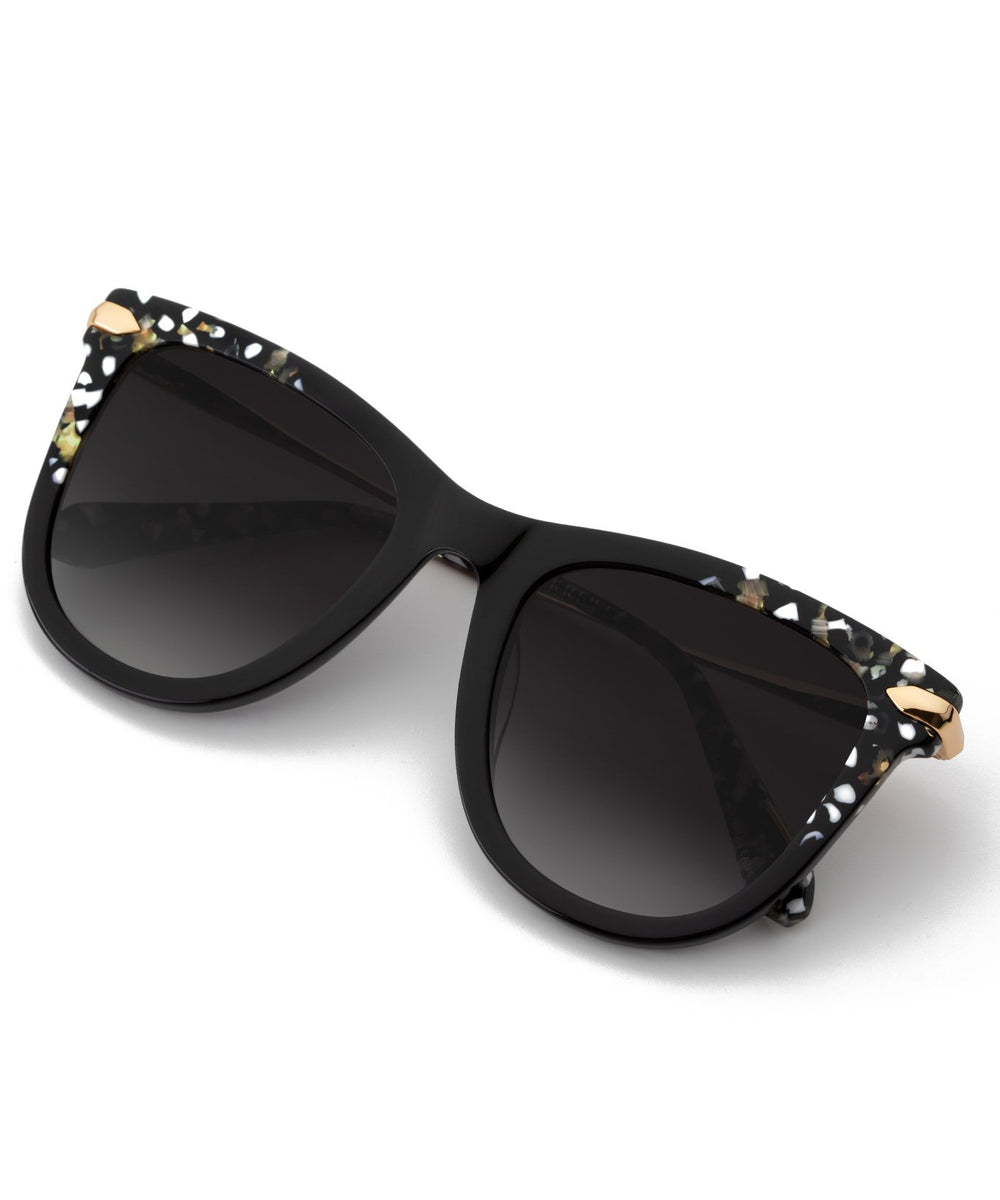 SIMONE | Plume to Black 24K Handcrafted, acetate sunglasses