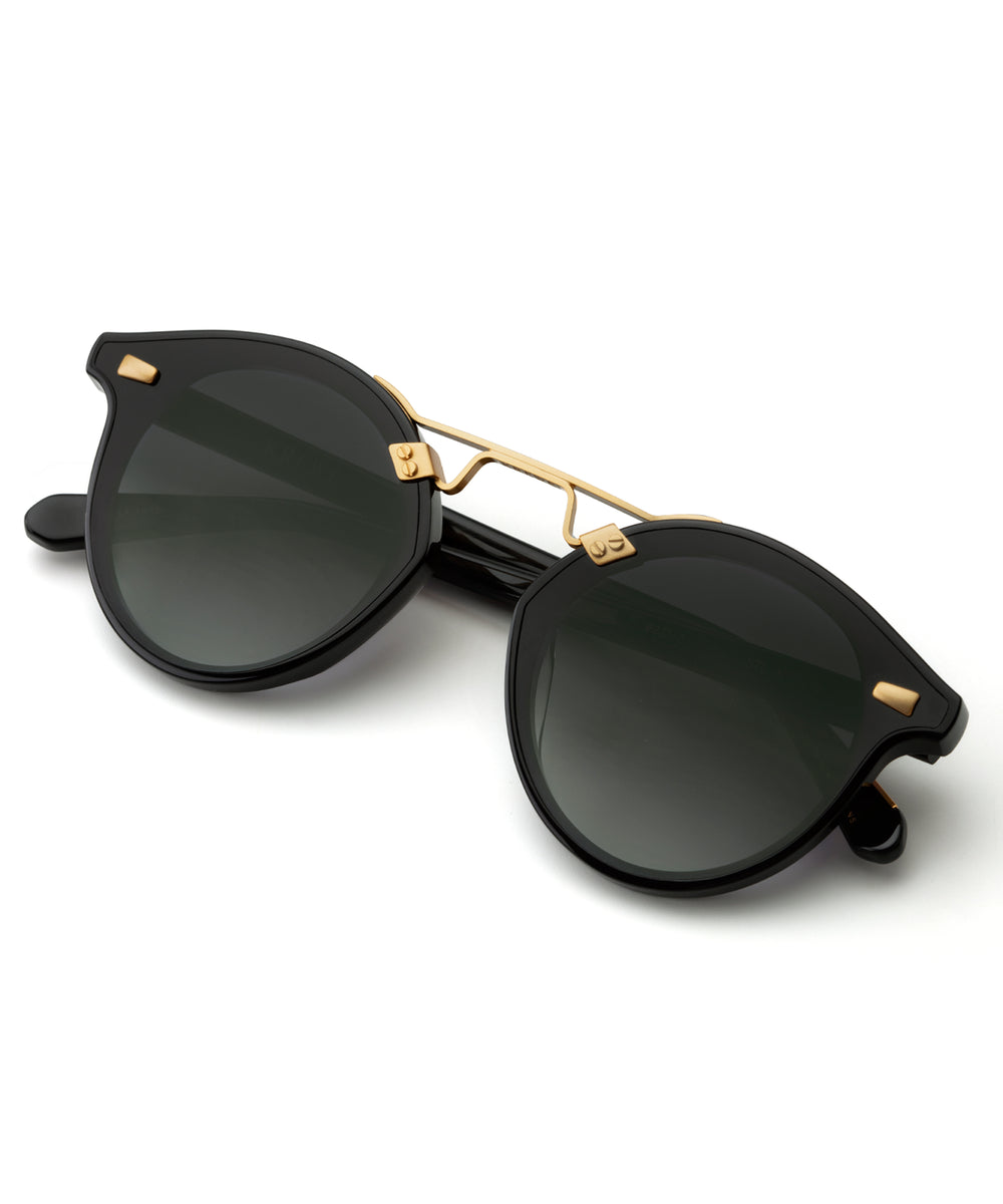 STL NYLON | Black to Shadow Handcrafted, Acetate Sunglasses