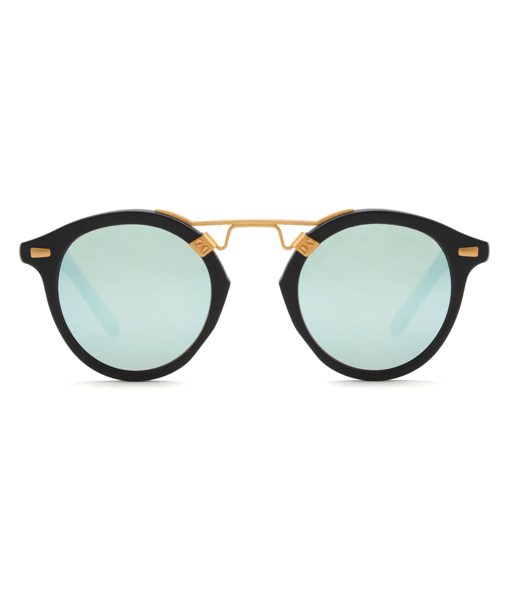 ST. LOUIS MIRRORED | Matte Black to Shadow Mirror Polarized